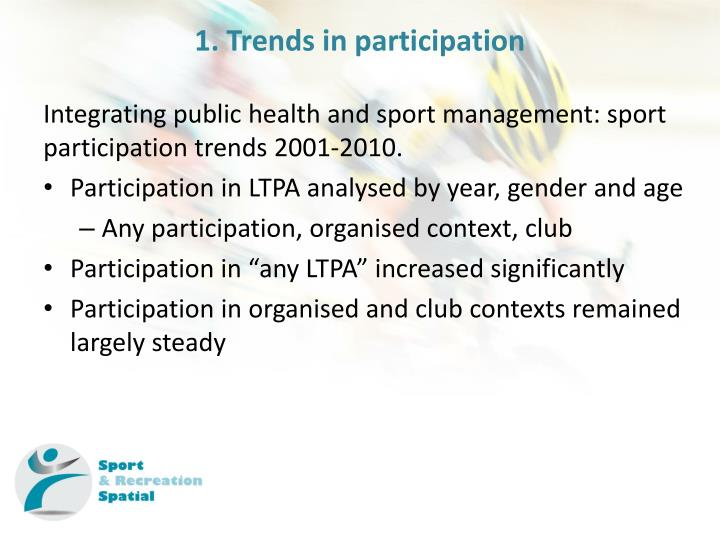 1. Trends in participation