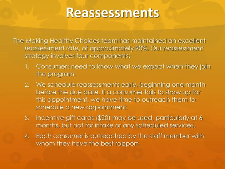 Reassessments