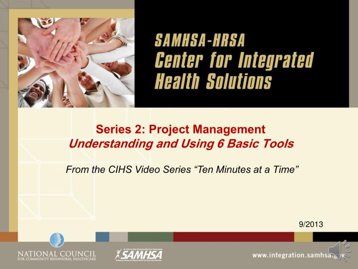 series 2 project management understanding and using 6 basic tools n.