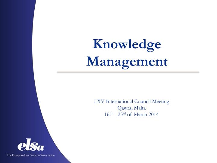 knowledge management n.