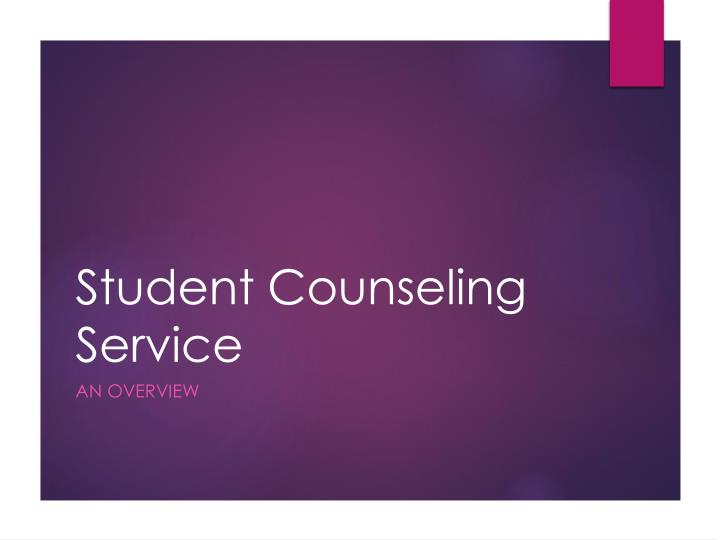 student counseling service n.