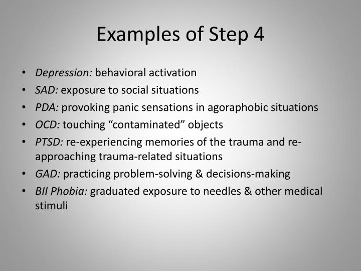 Examples of Step 4