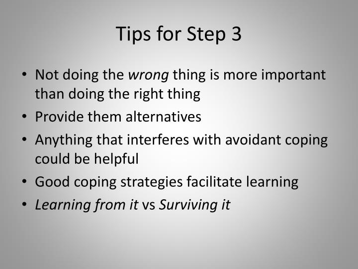 Tips for Step 3