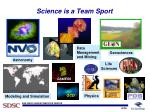 science is a team sport