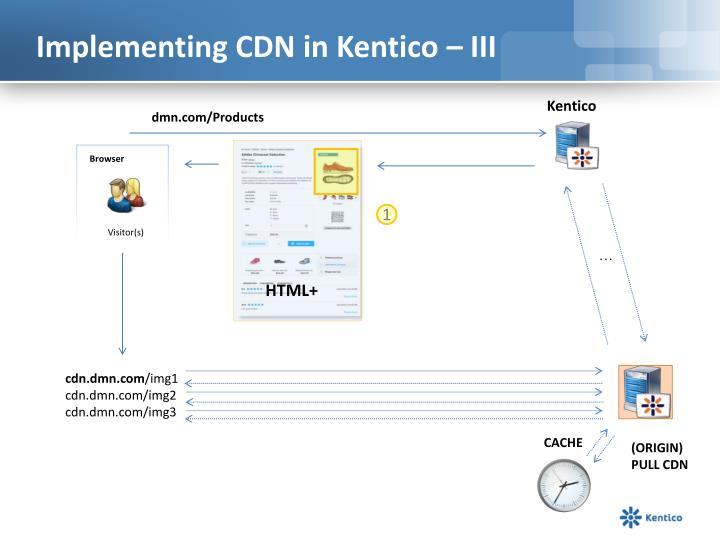 Implementing CDN in Kentico – III