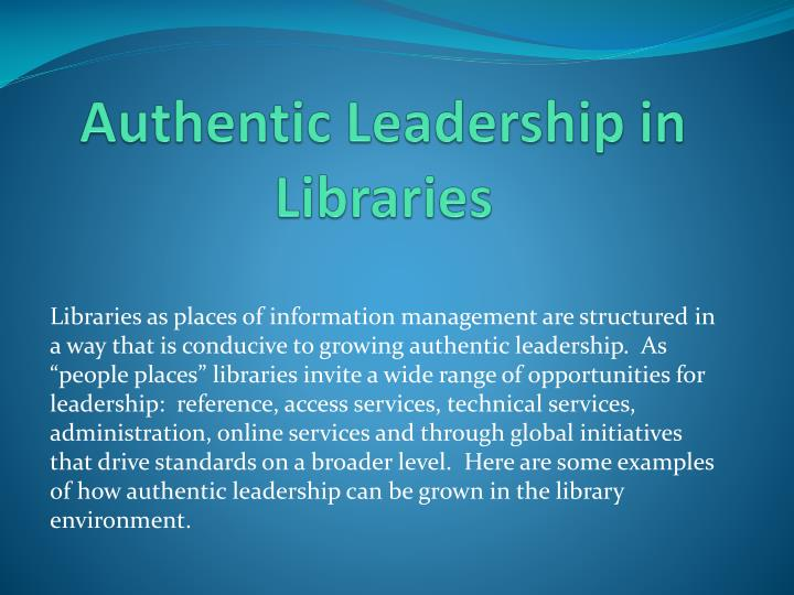 Ppt Authentic Leadership Powerpoint Presentation Id1570774