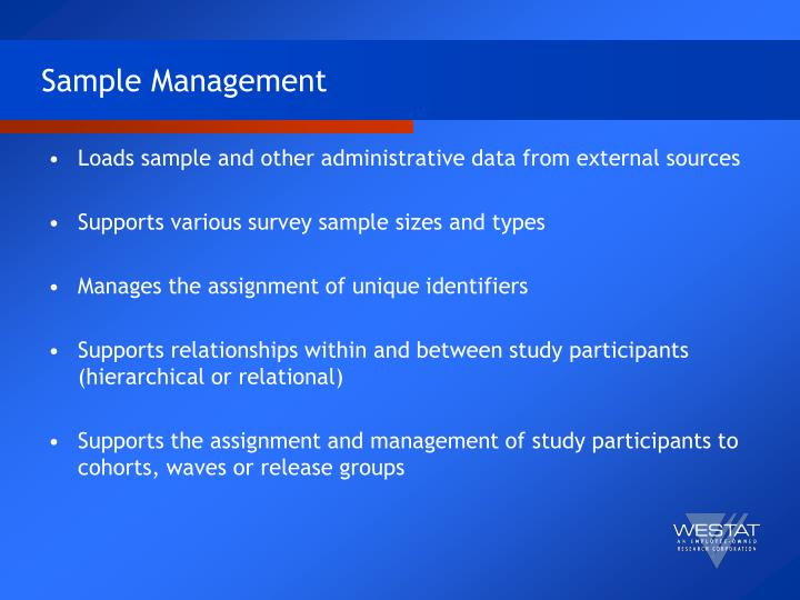 Sample Management