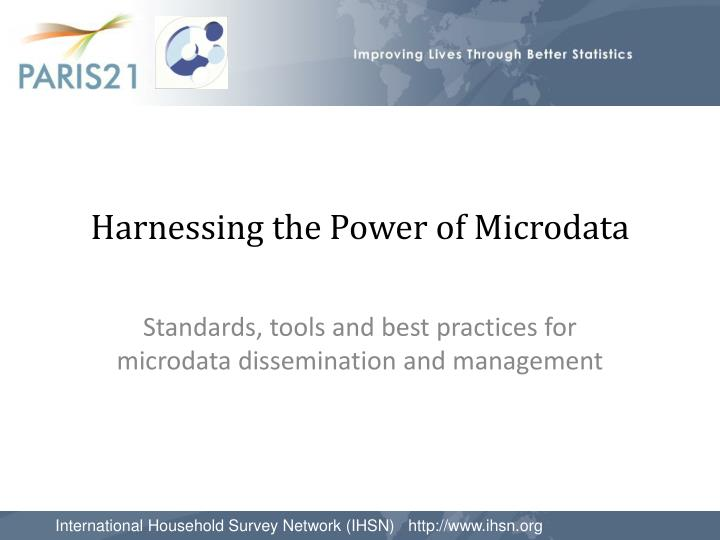 harnessing the power of microdata n.