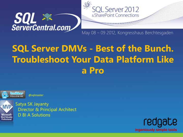 sql server dmvs best of the bunch troubleshoot your data platform like a pro n.