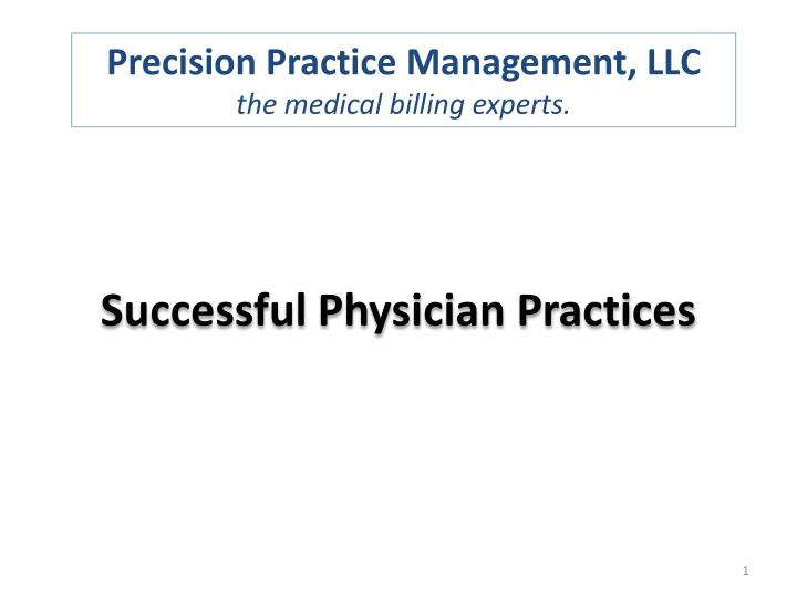 successful physician practices n.