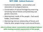 nfp 1988 salient features