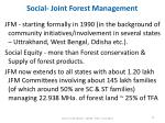 social joint forest management