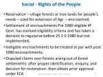 social rights of the people