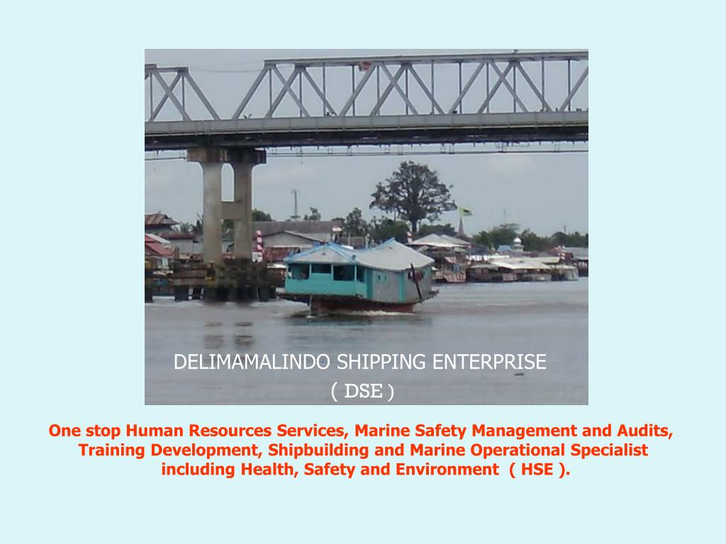 PPT - DELIMAMALINDO SHIPPING ENTERPRISE ( DSE ) PowerPoint
