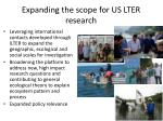 expanding the scope for us lter research