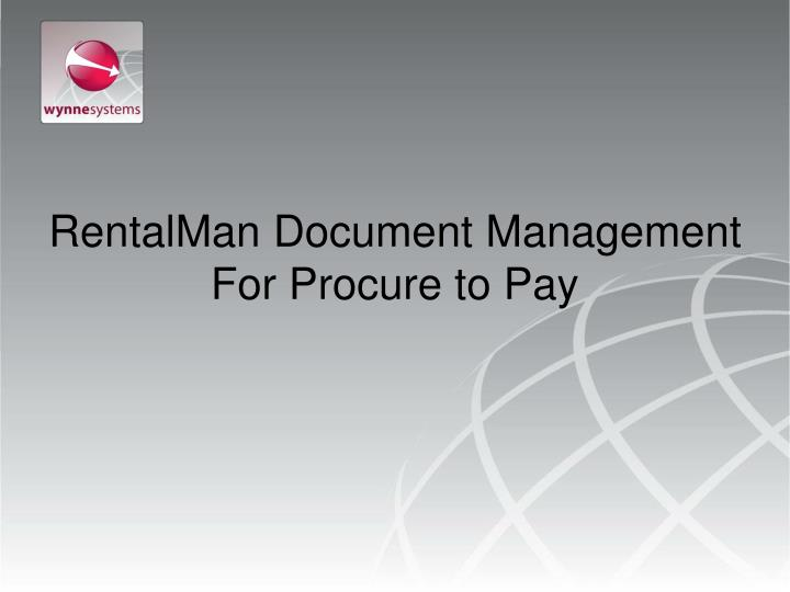rentalman document management for procure to pay