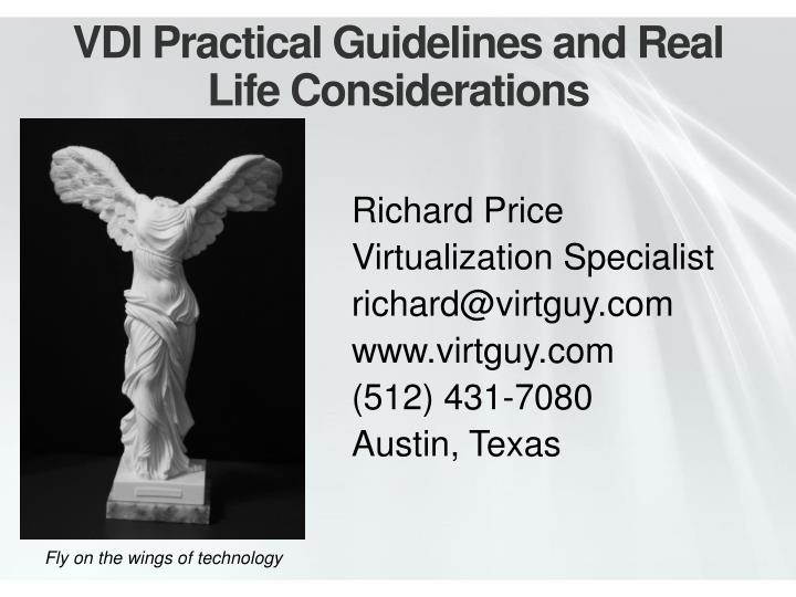 vdi practical guidelines and real life considerations n.