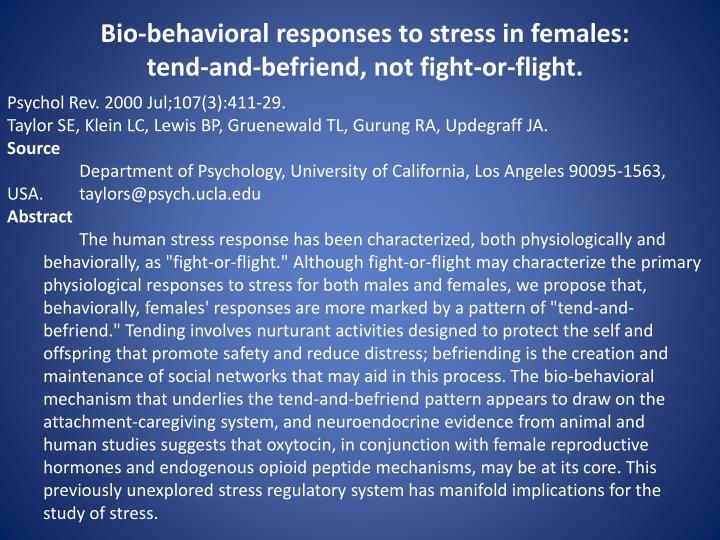 Bio-behavioral