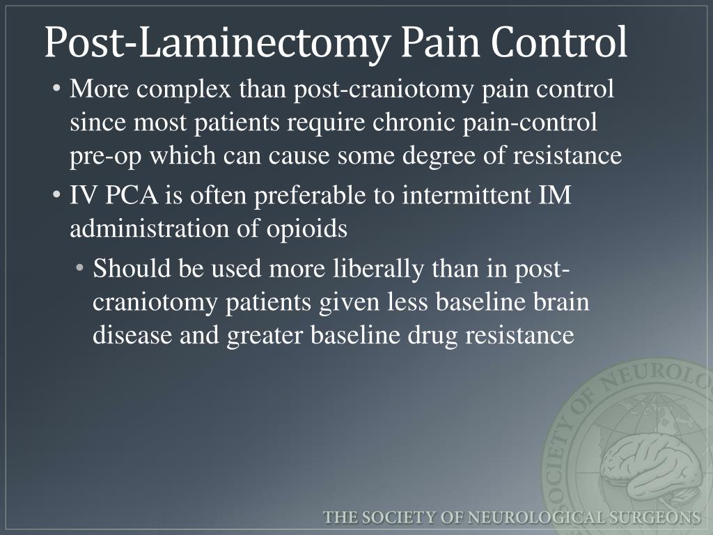 PPT - Post-operative and chronic pain management in