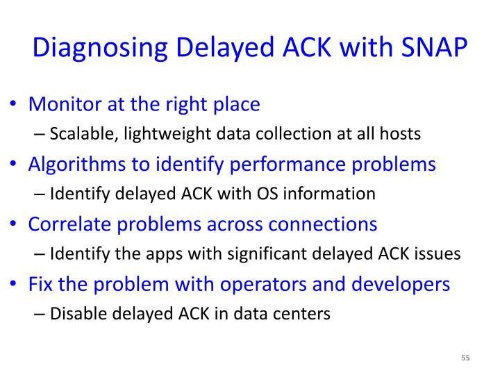 Diagnosing Delayed ACK with SNAP