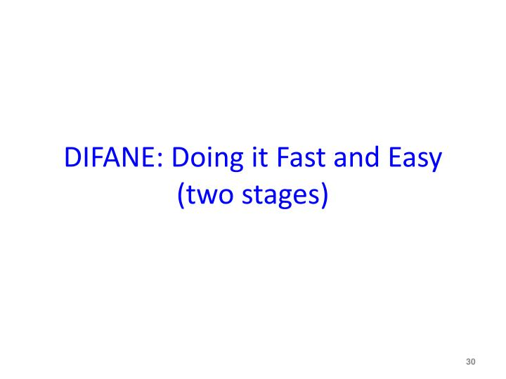 DIFANE: Doing it Fast and Easy