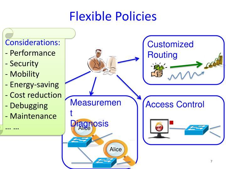 Flexible Policies