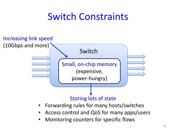 Switch Constraints