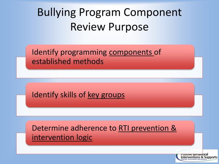 Bullying Program Component Review Purpose