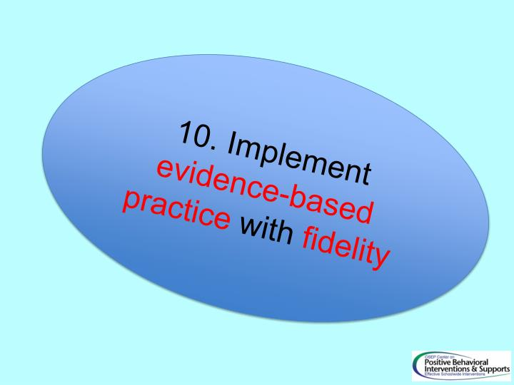 10. Implement