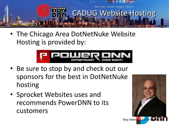 CADUG Website Hosting