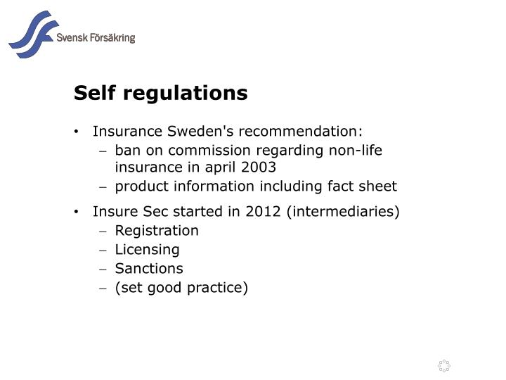 Self regulations