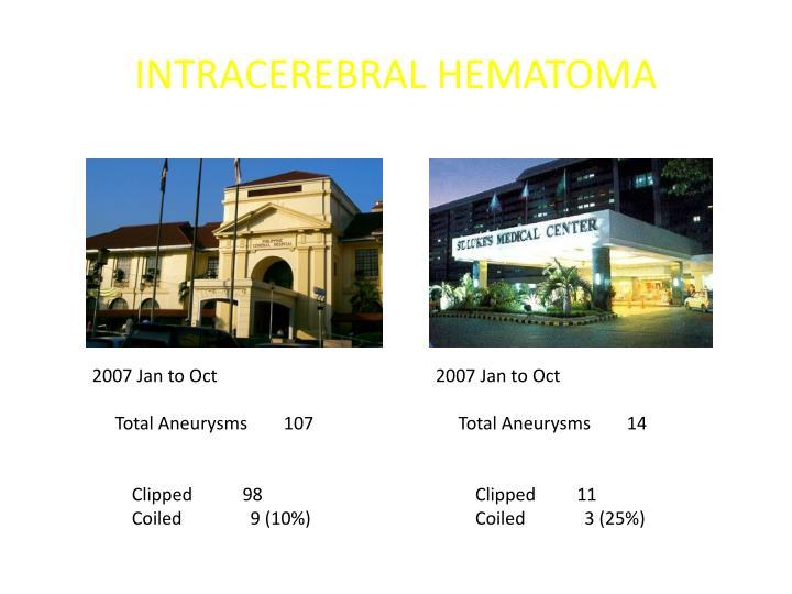 Intracerebral hematoma