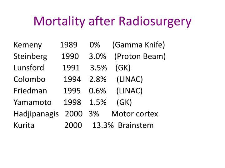 Mortality after Radiosurgery