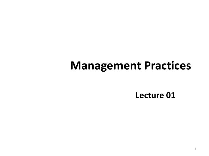 management practices n.