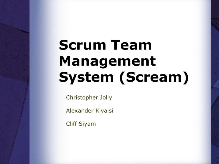 scrum team management system scream n.