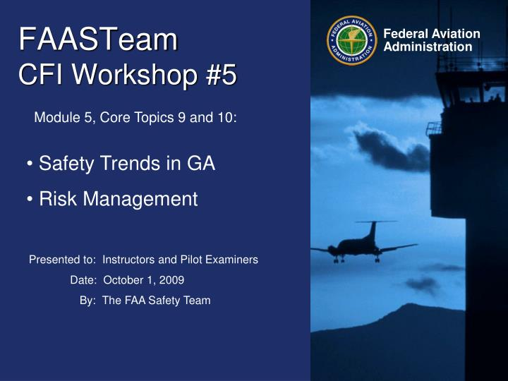 faasteam cfi workshop 5 n.