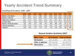 yearly accident trend summary