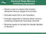 universal waste mercury containing equipment2