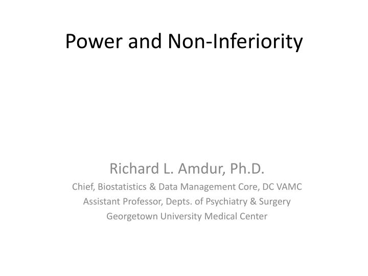 power and non inferiority n.