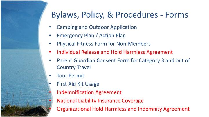 Bylaws, Policy, & Procedures - Forms