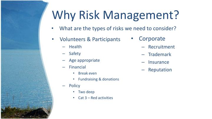 Why risk management