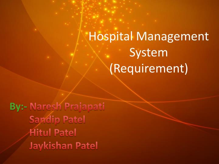 hospital management system requirement n.