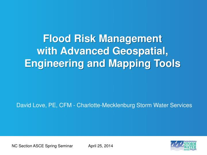 flood risk management with advanced geospatial engineering and mapping tools n.