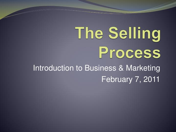 the selling process n.