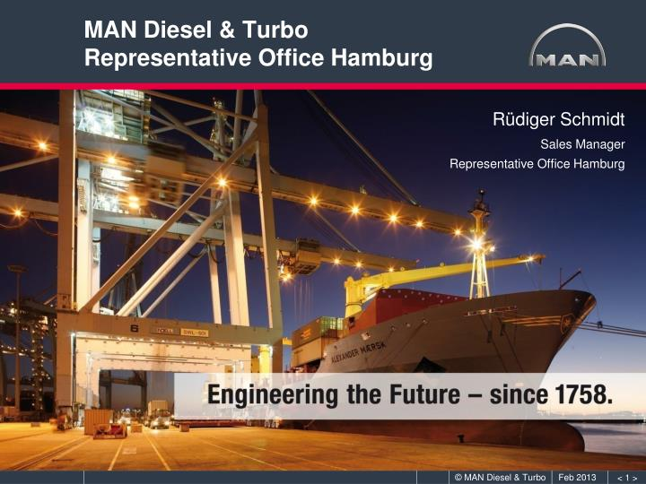 man diesel turbo representative office hamburg n.