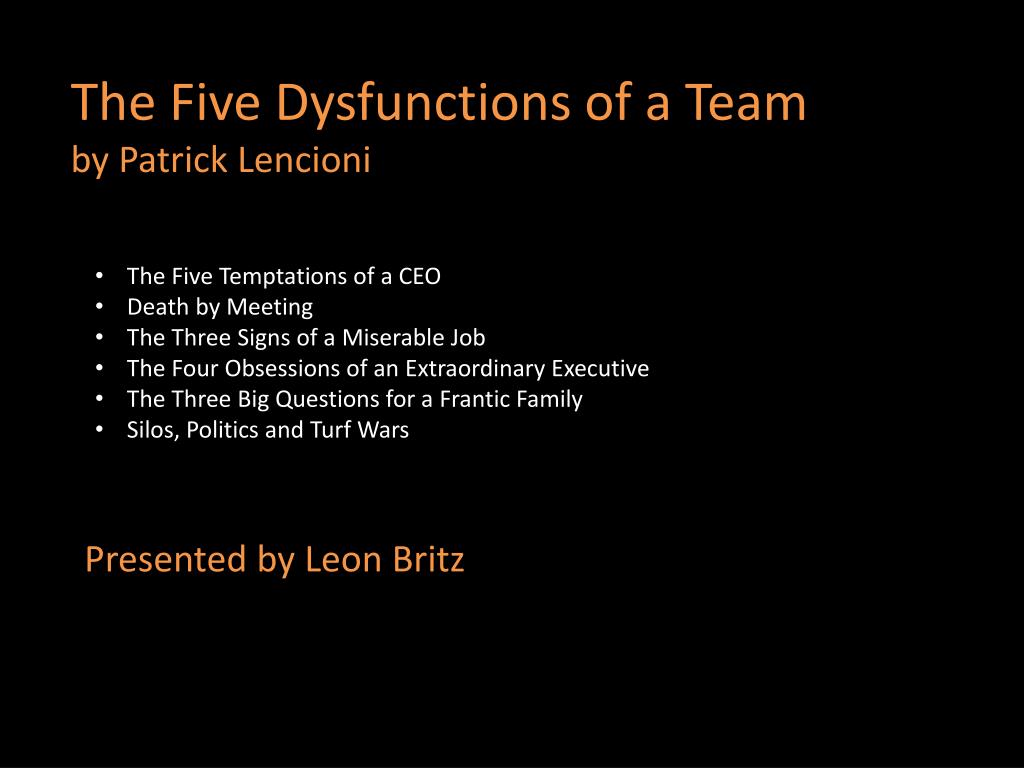 patrick lencioni death by meeting
