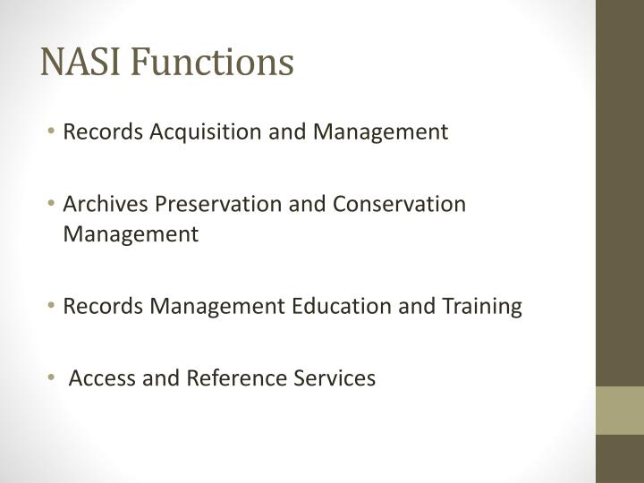 NASI Functions