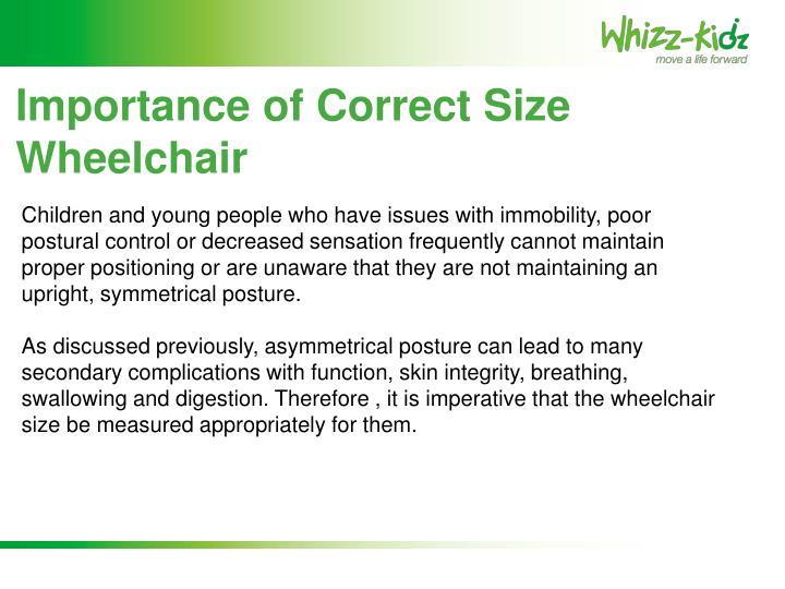 Importance of Correct Size Wheelchair