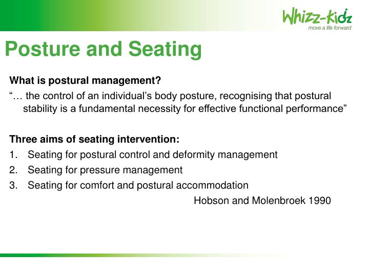 Posture and Seating
