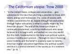 the californian utopia trow 2000